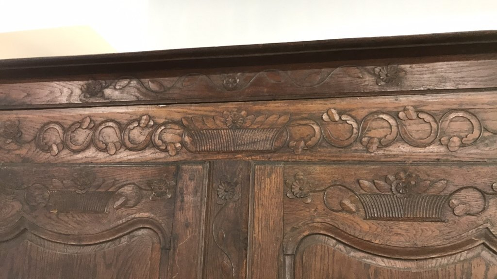 Antique Mahogany Carved Armoire - 2