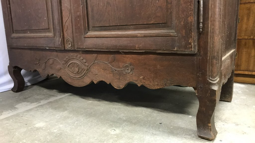 Antique Mahogany Carved Armoire - 4