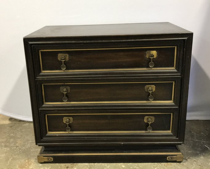 Vintage AMERICAN Mahogany Campaign Chest - 2
