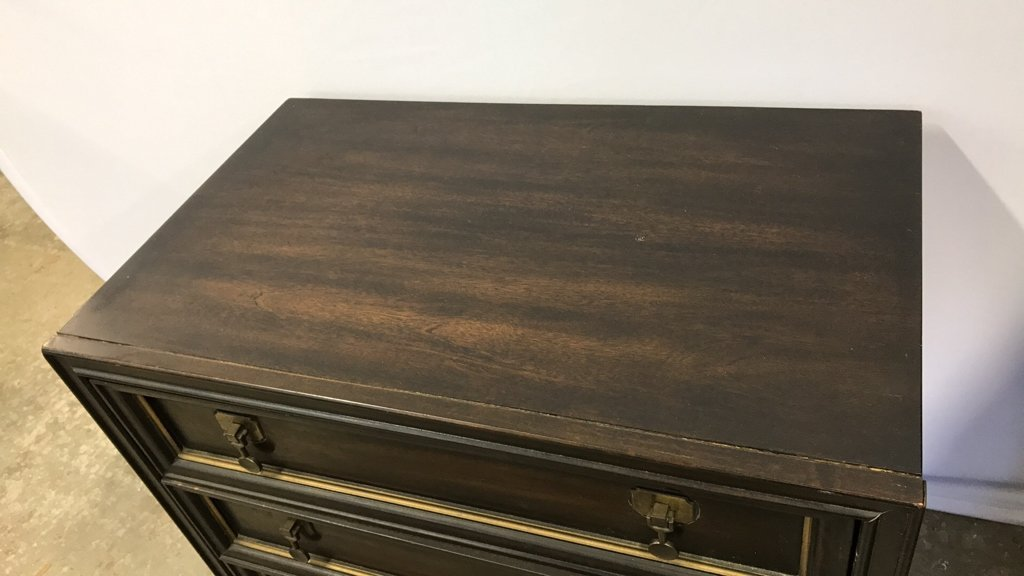 Vintage AMERICAN Mahogany Campaign Chest - 5