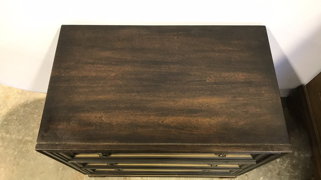 Vintage AMERICAN Mahogany Campaign Chest - 6