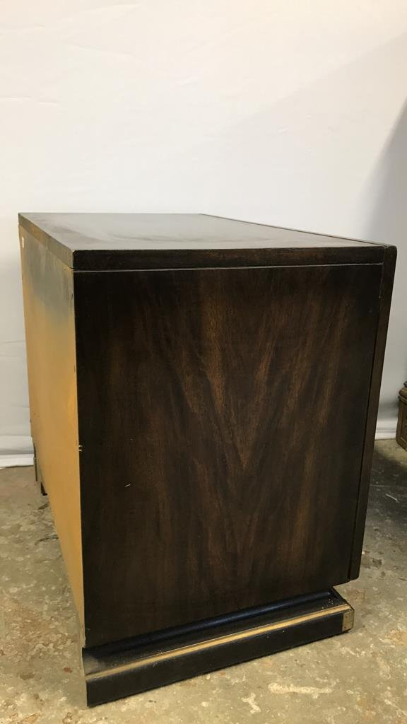 Vintage AMERICAN Mahogany Campaign Chest - 7