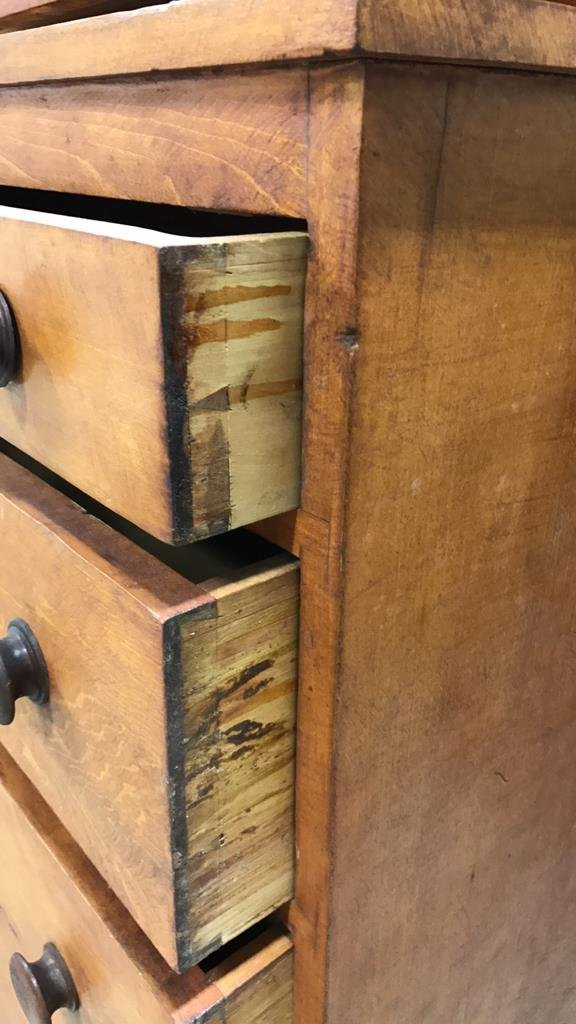 Antique Maple Stained Step Down Chest - 3