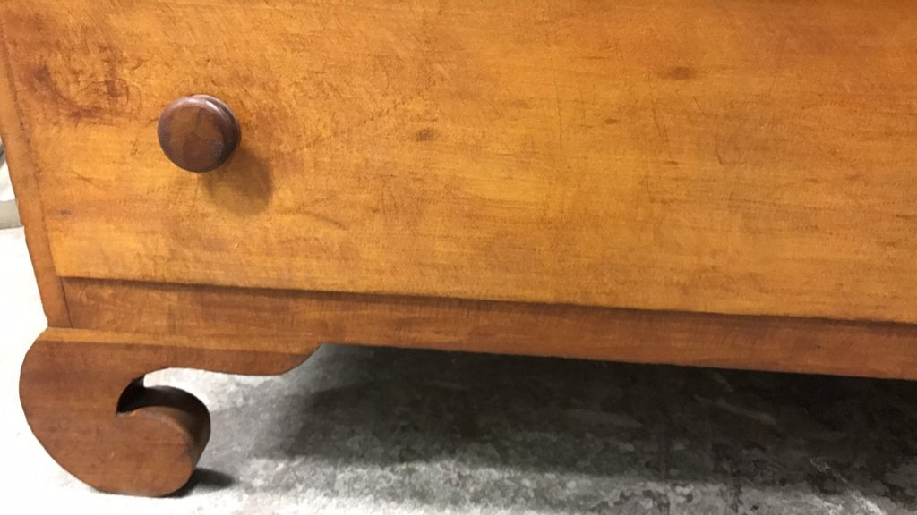 Antique Maple Stained Step Down Chest - 6