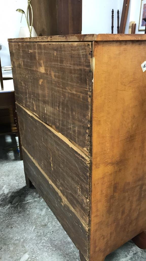 Antique Maple Stained Step Down Chest - 8