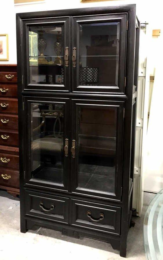 CENTURY Glass Wood Display Cabinet