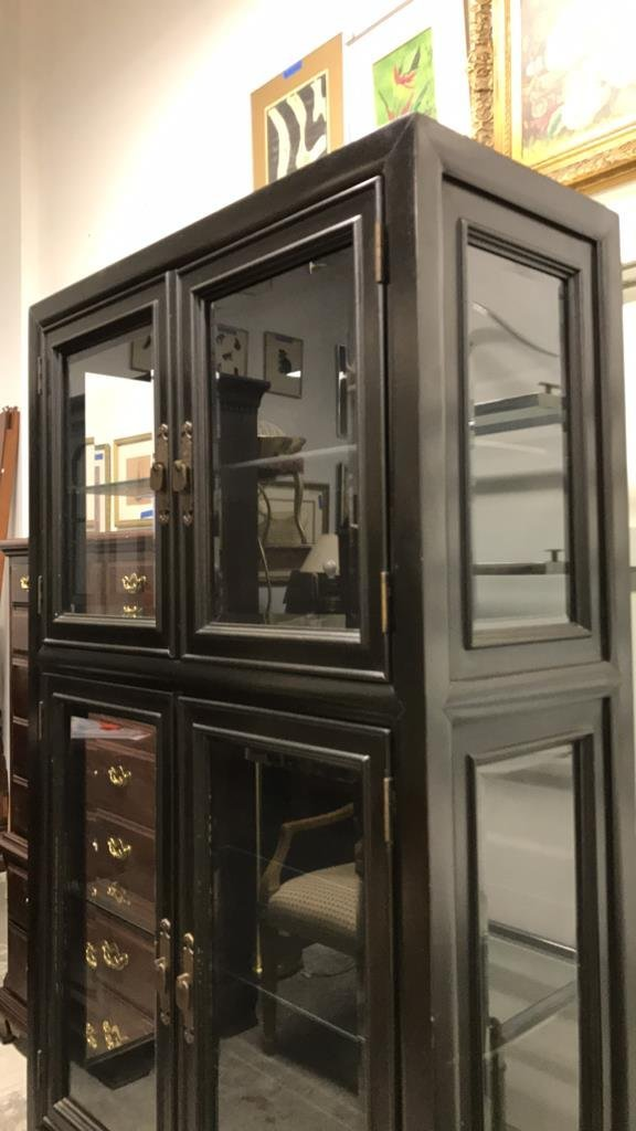 CENTURY Glass Wood Display Cabinet - 6