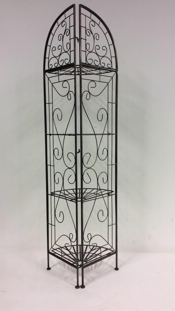 Tuscan Fan Design Portable Whatnot Shelf - 3