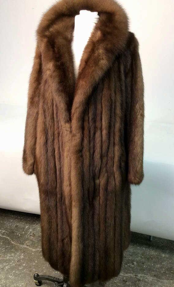 Russian Sable Vintage Fur Coat