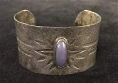 Vintage Hammered Silver Cuff