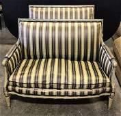 Pair French Provincial Louis XVI Style Settees