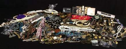 Group Lot Vintage Costume Jewelry, Signed, Silver