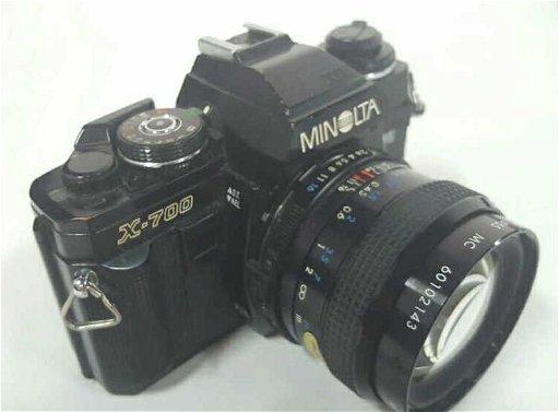 Minolta X-700 SLR camera with Kiron 28mm Lens