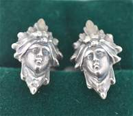 Victorian Period Mens Silver Plated Cuff Links