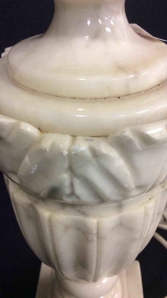 2 Pairs Alabaster & Marble Lamps - 4