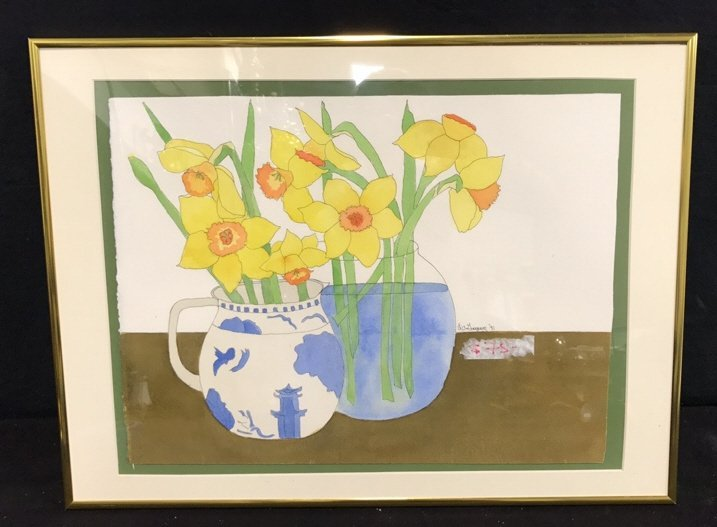 Signed Liz Guogun '91 Watercolor Print