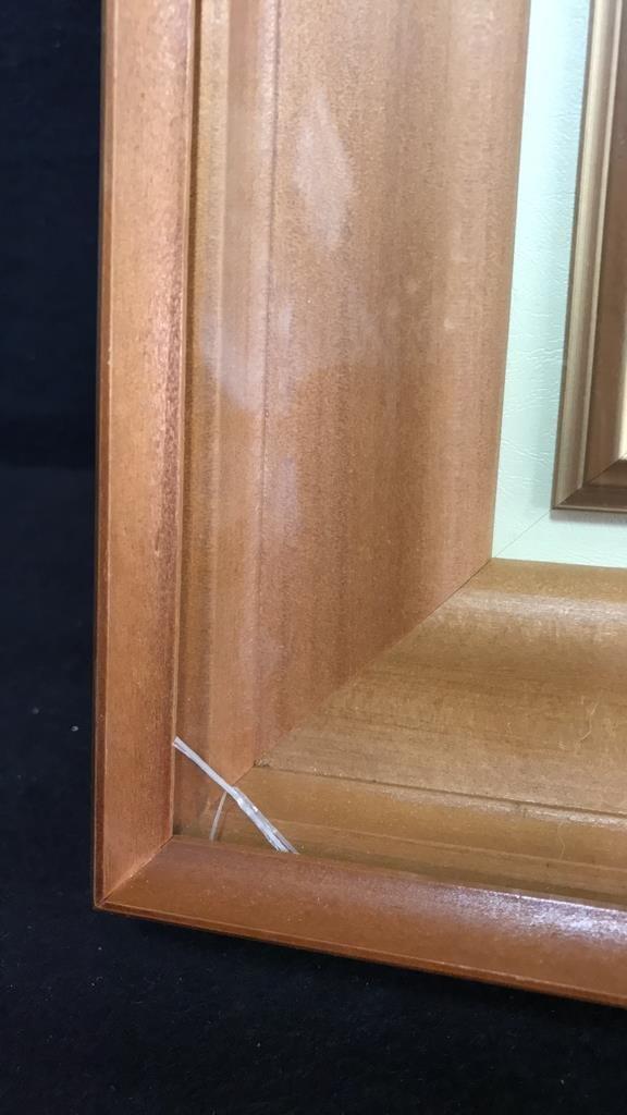 Framed Glazed Painting On Copper Framed - 3