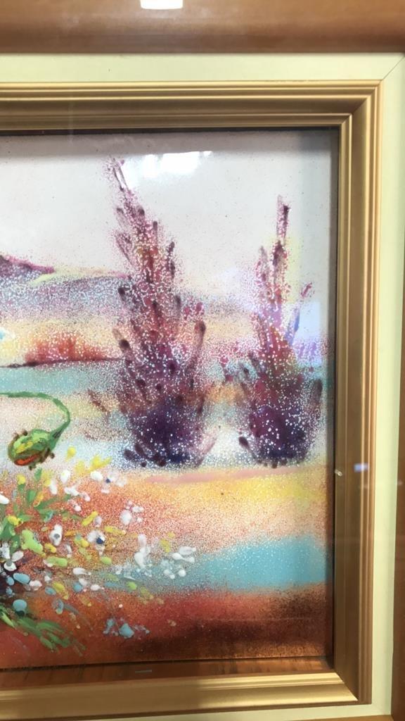 Framed Glazed Painting On Copper Framed - 5