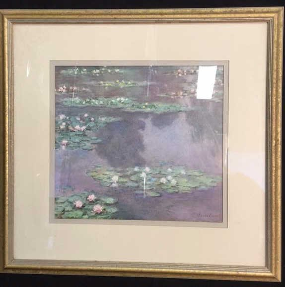 Framed Claude Monet Waterl Lillies Print