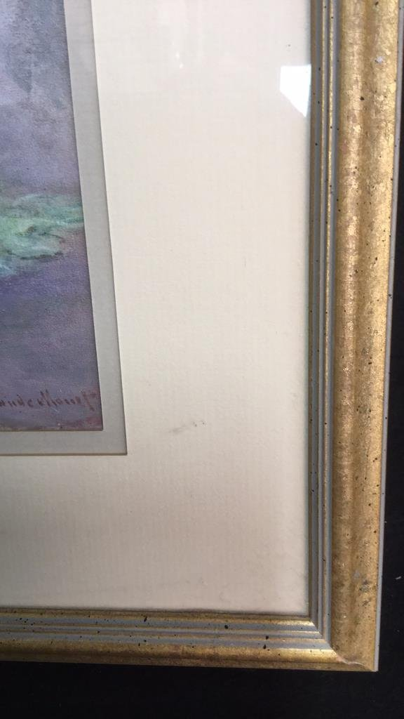 Framed Claude Monet Waterl Lillies Print - 3