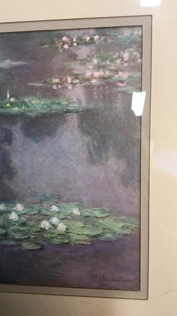 Framed Claude Monet Waterl Lillies Print - 7