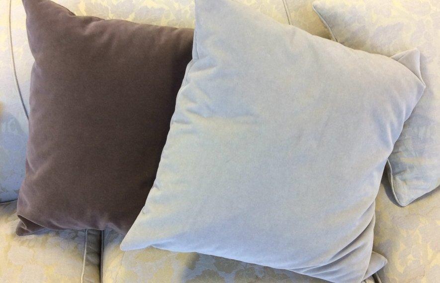 2 Cotton Velvet Throw Pillows