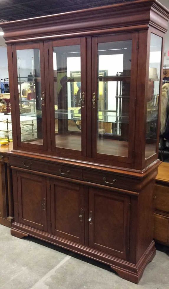 Cherrywood And Glass China Cabinet