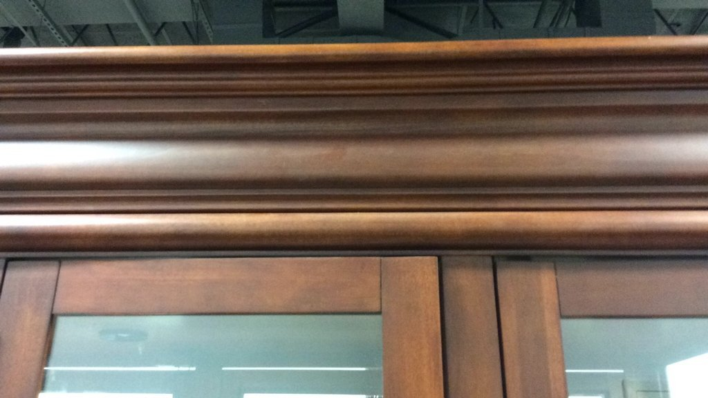 Cherrywood And Glass China Cabinet - 5