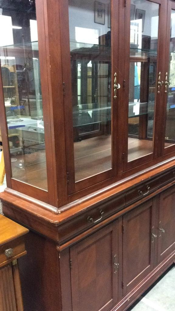 Cherrywood And Glass China Cabinet - 7