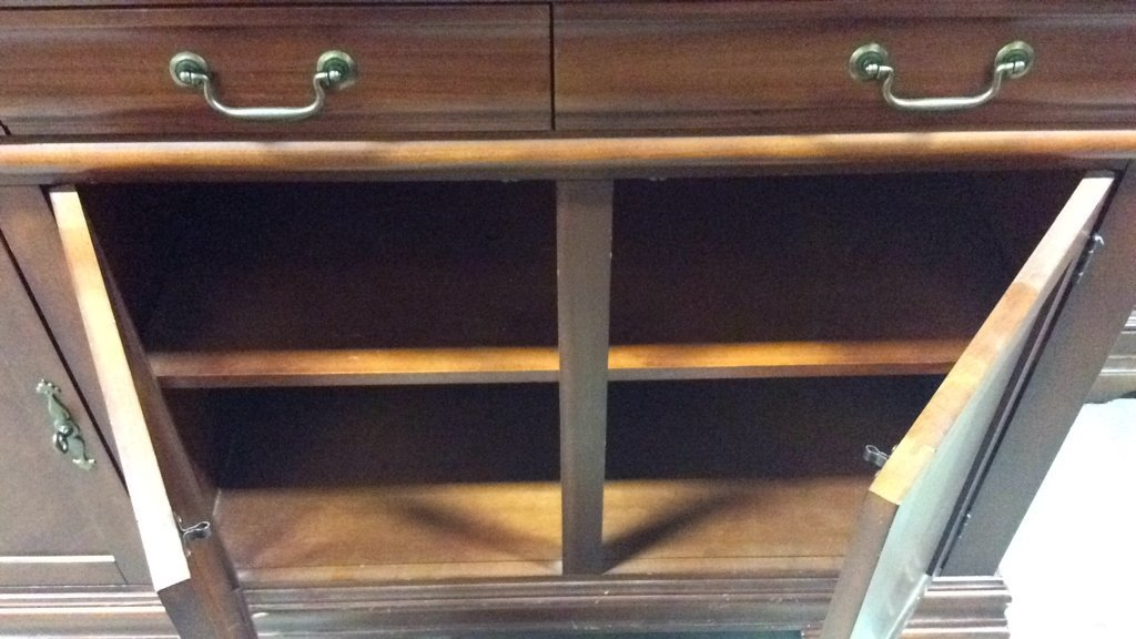 Cherrywood And Glass China Cabinet - 9