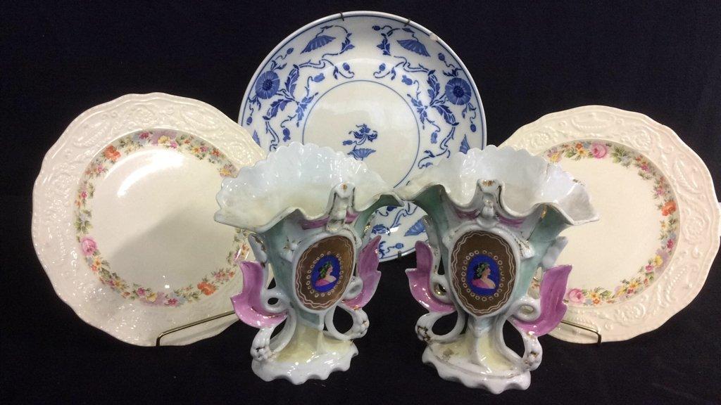 Group Lot Signed Antique Vintage Porcelain