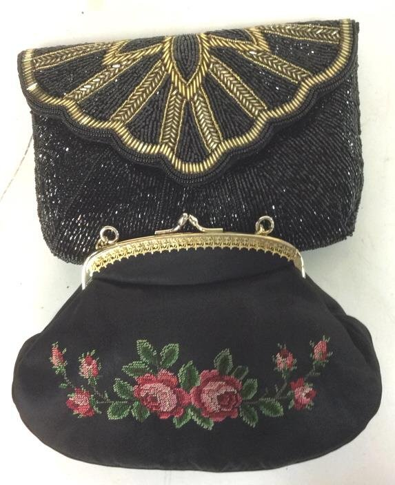 2 Vintage Black Evening Purses