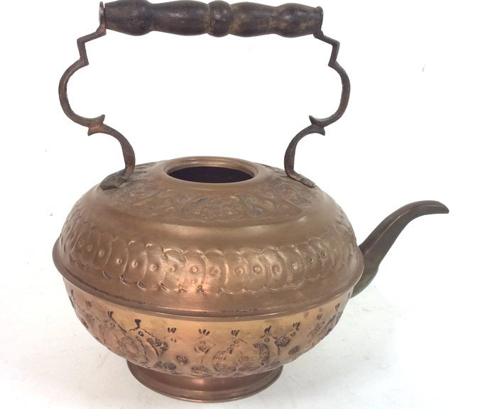 Israeli Copper Handled Vintage Kettle