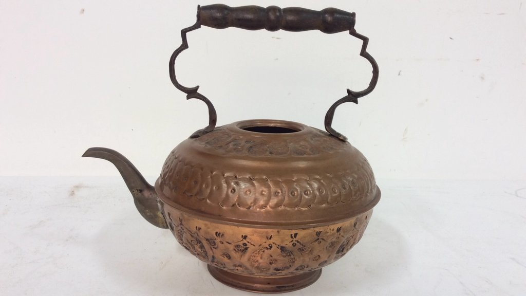 Israeli Copper Handled Vintage Kettle - 5