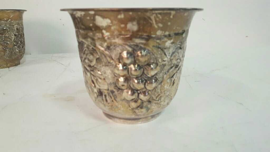 Silver Plated Flower Pots - 3