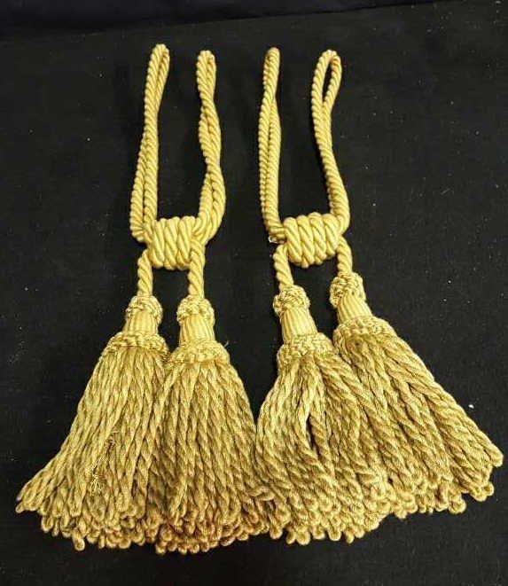 Two Gold Silk Tassels