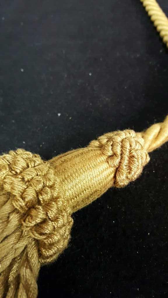 Two Gold Silk Tassels - 6