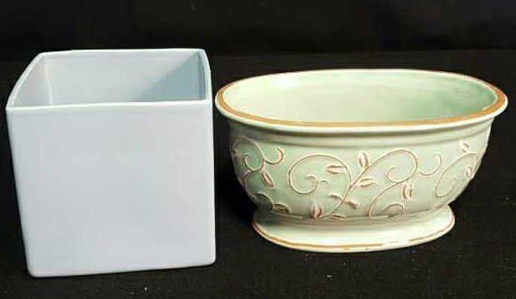 Two Ceramic Planters
