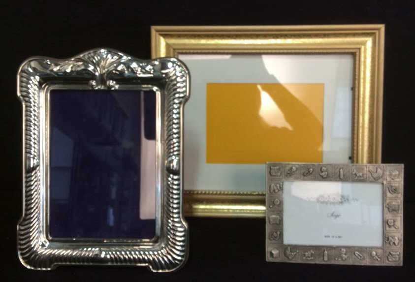Three Picture Frames Wood, Pewter, SP
