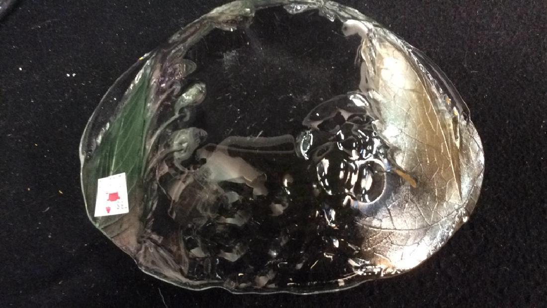 Vintage Glass Leaf & Grape Bowls - 7
