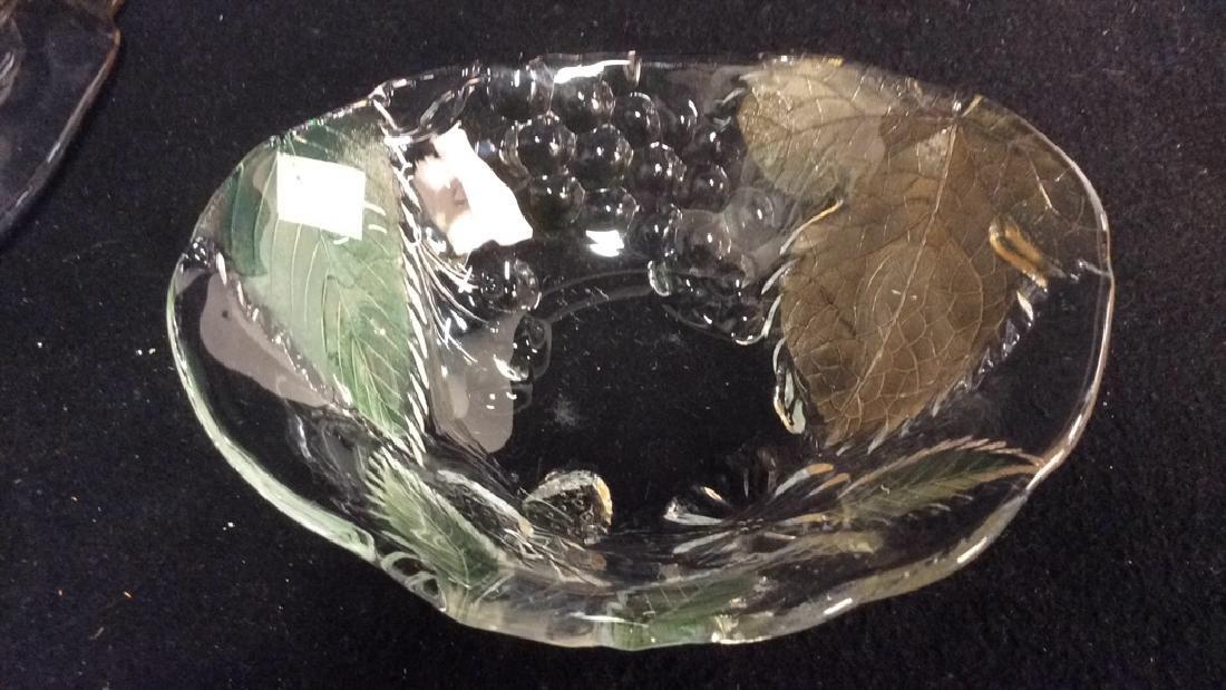 Vintage Glass Leaf & Grape Bowls - 8