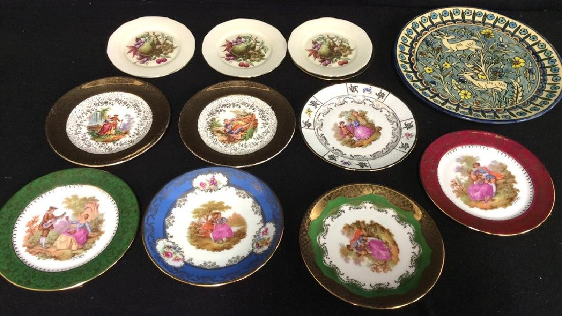 Assorted Collectible Limoges Plates & More