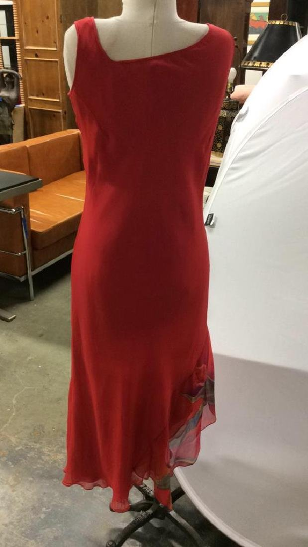 Vintage Red V Neck Sheath Dress w Jacket - 6