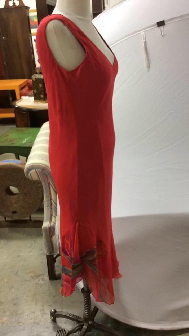 Vintage Red V Neck Sheath Dress w Jacket - 7