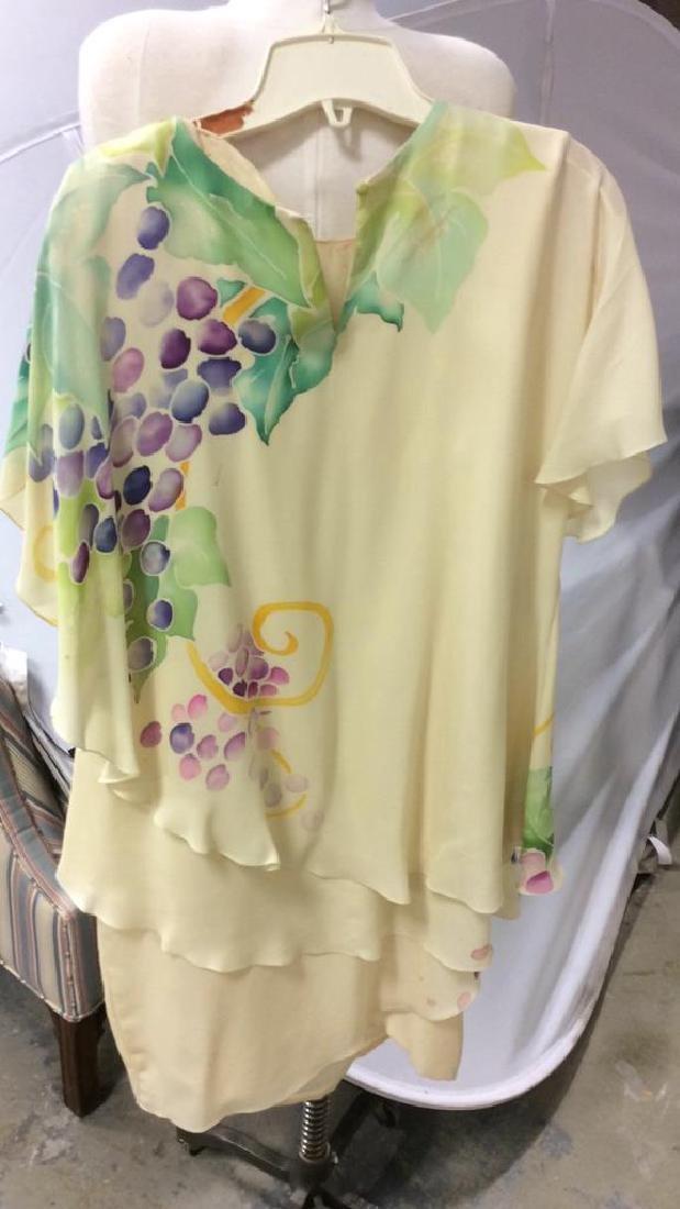 Two Piece Vi Tate Cream Tiered Layered Dress - 5