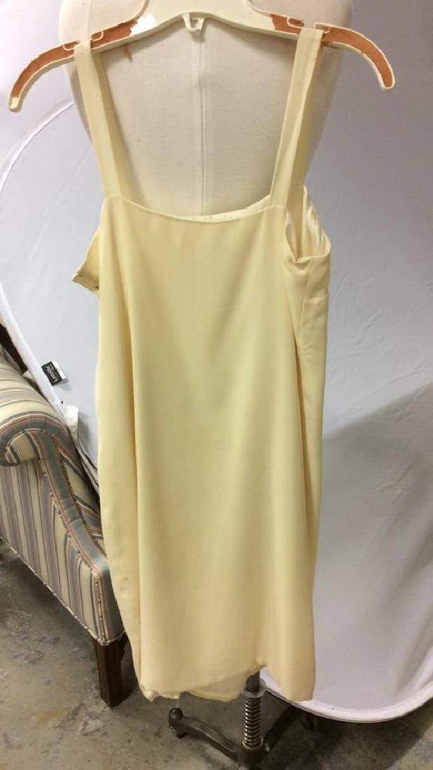 Two Piece Vi Tate Cream Tiered Layered Dress - 6