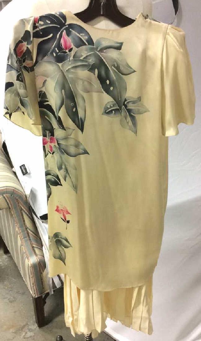 Vintage Layered Two Piece Cream Silk Dress