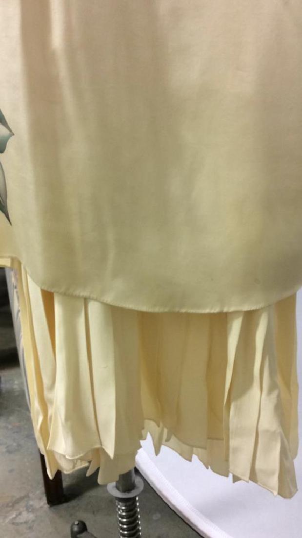 Vintage Layered Two Piece Cream Silk Dress - 2