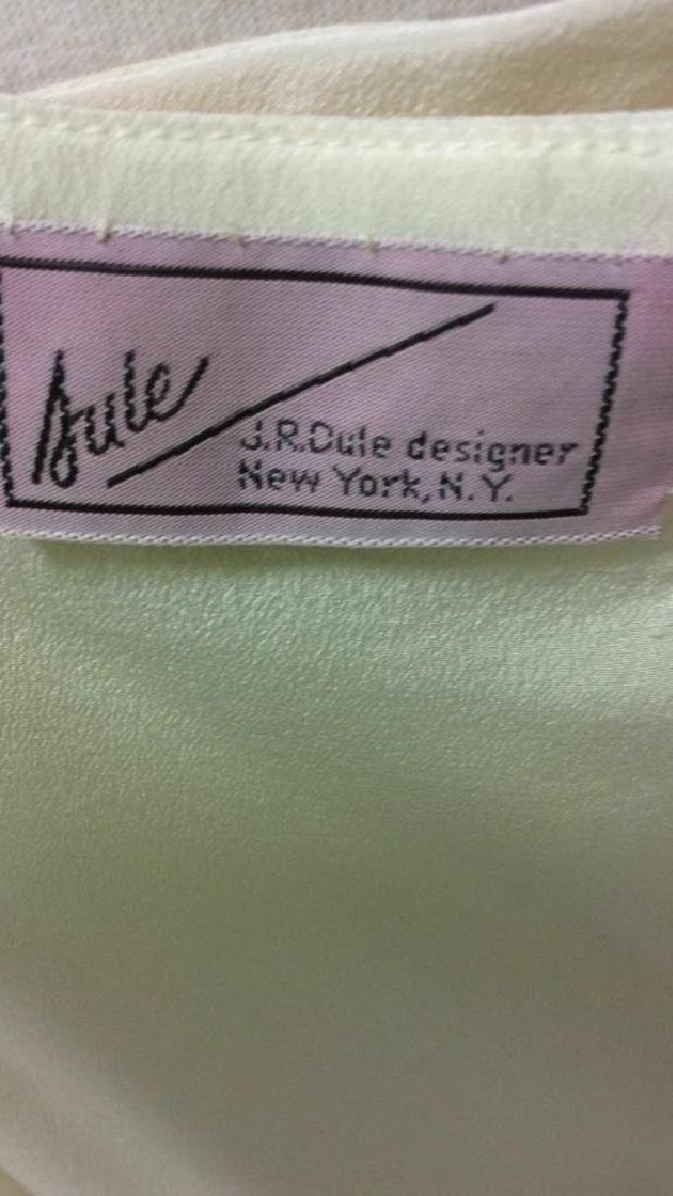 Vintage Layered Two Piece Cream Silk Dress - 7