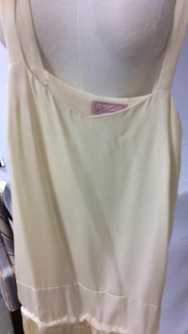 Vintage Layered Two Piece Cream Silk Dress - 9